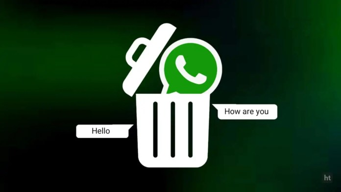 Delete WhatsApp message