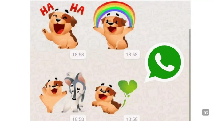 WhatsApp animated sticker feature