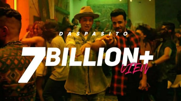 Despacito 7 billion viewed on YouTube