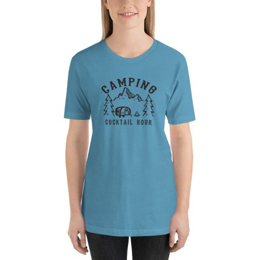 Camping Cocktail Hour mockup Front Womens Ocean Blue