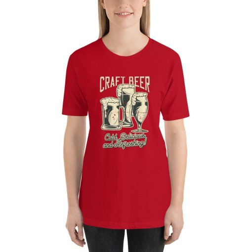 Craft Beer 1 mockup Front Womens Red