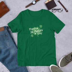 Happy St Pats Day mockup Front Flat Lifestyle Kelly