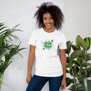 Happy St Pats Day mockup Front Womens Lifestyle 2 White