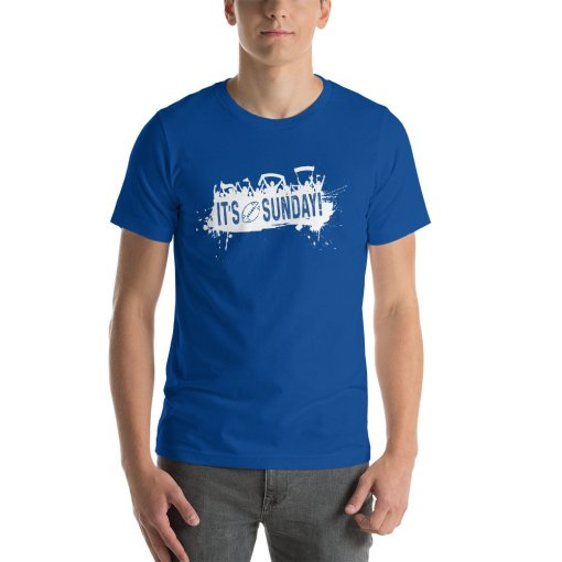 Its Sunday w mockup Front Mens True Royal