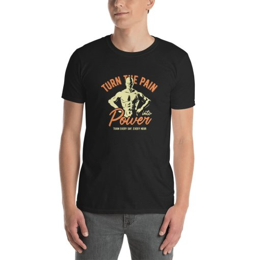Pain in to Power mockup Front Mens Black