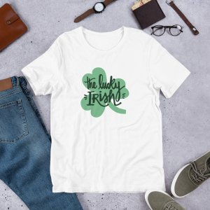 The Lucky Irish 1a mockup Front Flat Lifestyle White