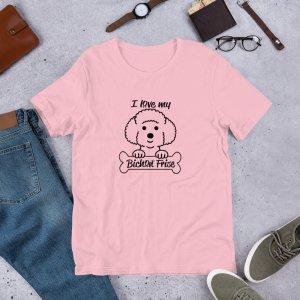 bichon frise mockup Front Flat Lifestyle Pink