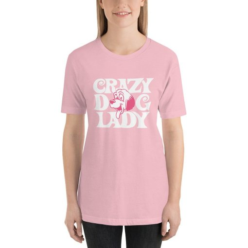 crazy dog lady mockup Front Womens Pink