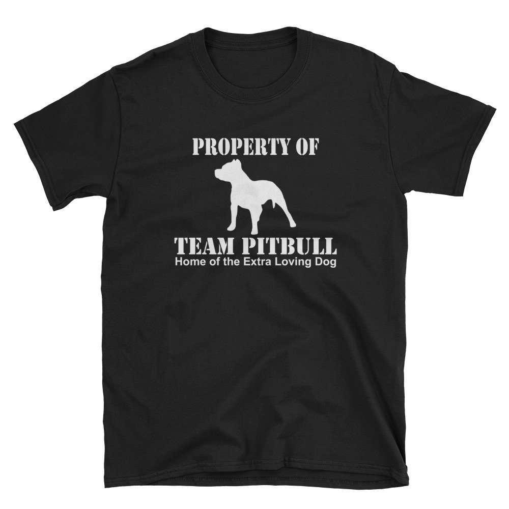 Property of Team Pitbull Unisex T-Shirt for pitbull dog lovers