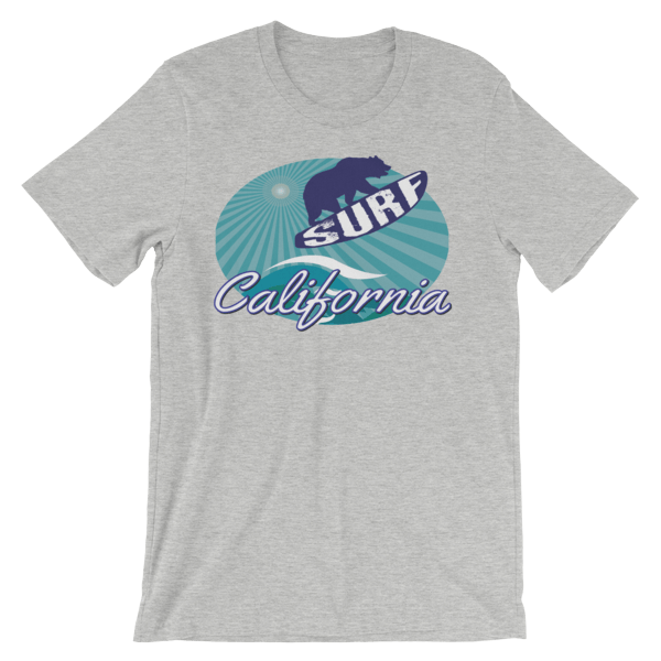 Surf California Bear Unisex t-shirt