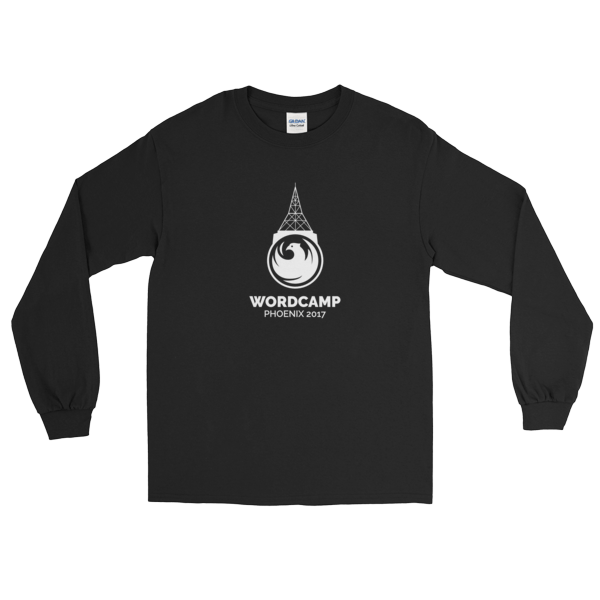 WordCamp PHX Long Sleeve T-Shirt in (7) Colors