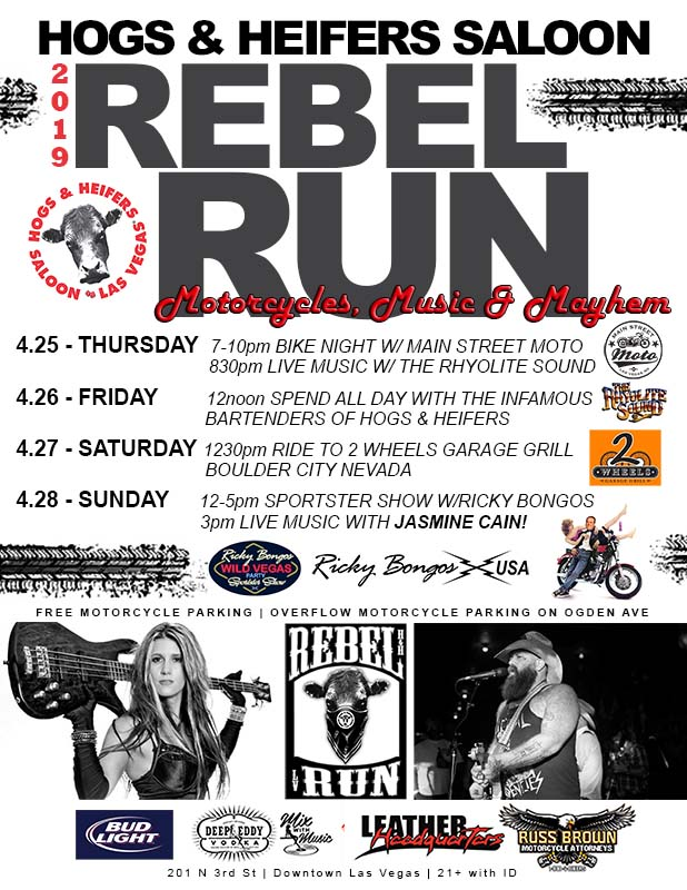 REBEL RUN | Motorcycles, Music & Mayhem | Hogs & Heifers