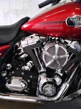 Red Harley Engine 2