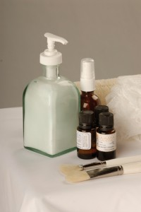 lotions and essential oils