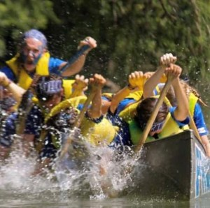 Face fears by participating in war canoe