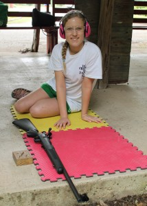 Self reliance is one of the skills campers practice while attending camp