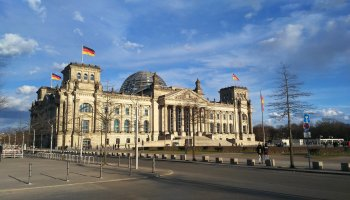 Außenansicht des Deutschen Bundestages