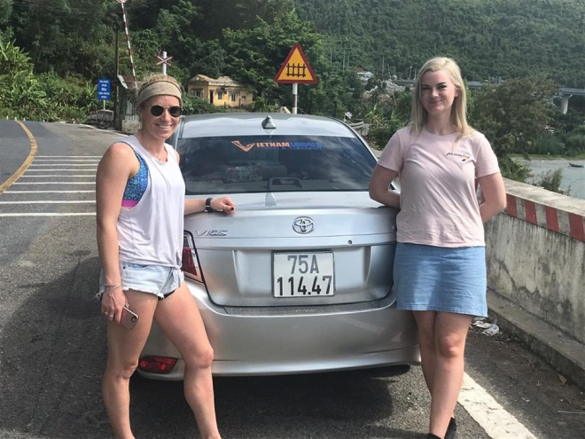 Stop at Hai Van pass, Hoi An Private Car