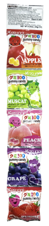"(English) ""KASUGAI"" FRUIT GUMMY CANDIES 5/PK"