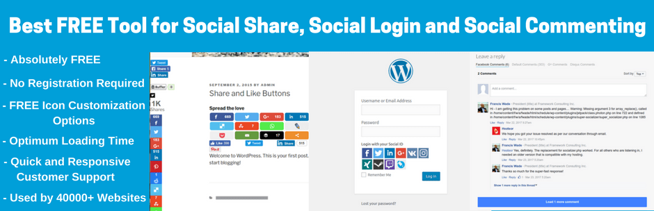 Top 10+ Best Social Login Plugins for WordPress and