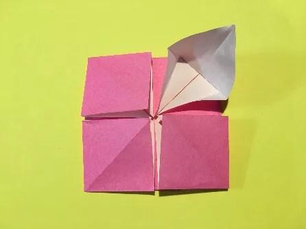 折り紙のメダルの作り方11