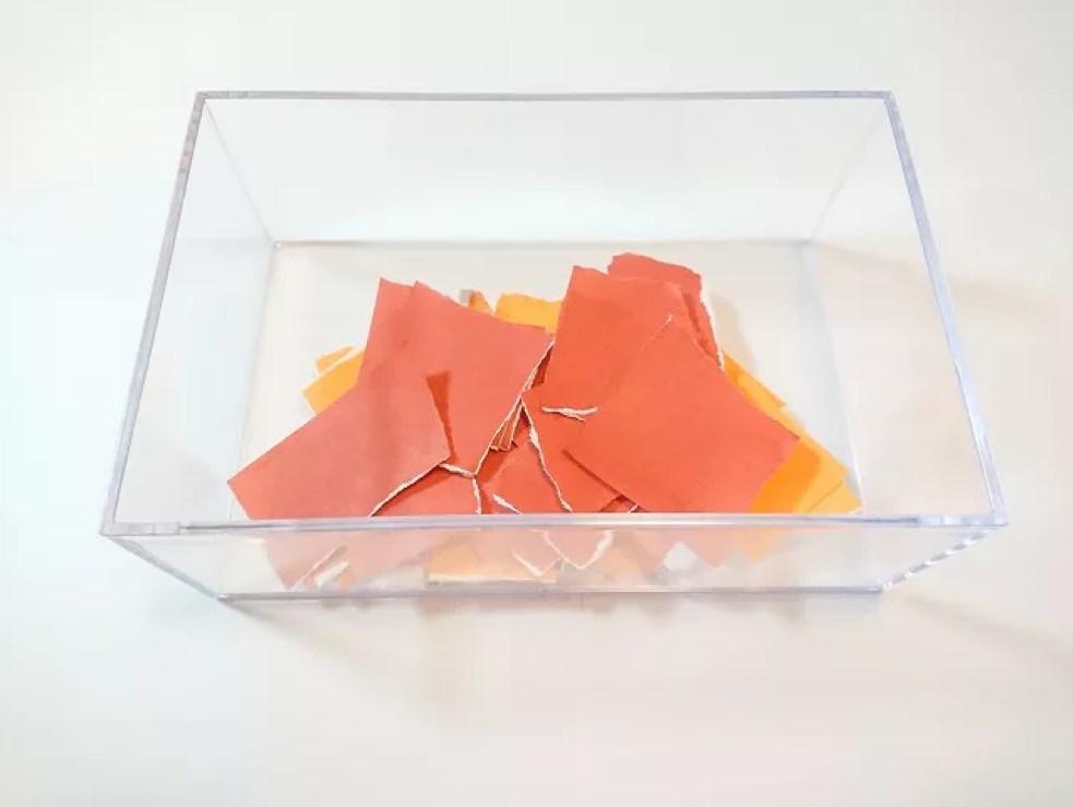 折り紙をちぎった後