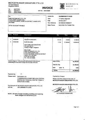 Hoá Đơn Thương Mại - commercial invoice