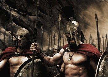 Captain (VINCENT REGAN), Leonidas (GERARD BUTLER) and the Spartans stand ready to halt the advance of the Persian army in Warner Bros. Picturesí, Legendary Picturesí and Virtual Studiosí action drama ì300,î distributed by Warner Bros. Pictures. PHOTOGRAPHS TO BE USED SOLELY FOR ADVERTISING, PROMOTION, PUBLICITY OR REVIEWS OF THIS SPECIFIC MOTION PICTURE AND TO REMAIN THE PROPERTY OF THE STUDIO. NOT FOR SALE OR REDISTRIBUTION