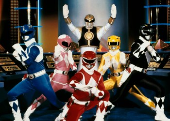 "FILE - This publicity file photo provided by Saban Brands, shows a scene from the ""Mighty Morphin Power Rangers"" TV show. Lions Gate Entertainment Corp. said Tuesday, May 6, 2014, it was partnering with Haim SabanÌs Saban Entertainment to produce a live-action feature film based on the spandex-wearing, martial arts superheroes who are usually called upon to save the world. ""Power Rangers"" have had a continuous presence on U.S. TV since 1993. (AP Photo/Saban Brands, file)"