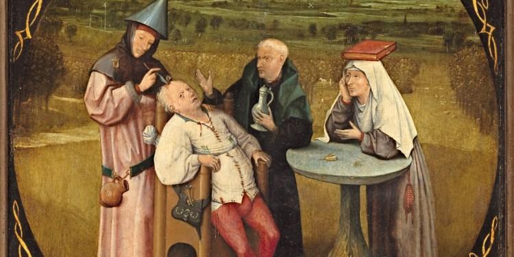 """Hieronimus Bosch - """"Extracção da pedra da loucura"""""""