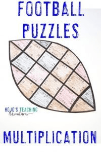 Click to buy Multiplication Football Puzzles!