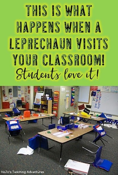 This is what happens when the leprechaun visits your classroom. Students LOVE it! Click through to get more writing ideas and fun activities for St. Patrick's Day!