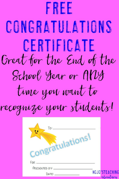 Are you looking for a free download to show your students some congratulations? This will do the trick!