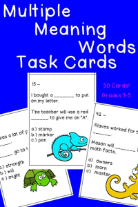 Do your students need more practice with multiple meaning words? Then give these task cards a try! They're perfect for 3rd, 4th, 5th, and 6th grade students. With 50 cards, you can't go wrong with this purchase! Plus the puzzles help teach CCSS L.3.4, L.4.4, L.5.4, and L.6.4. $