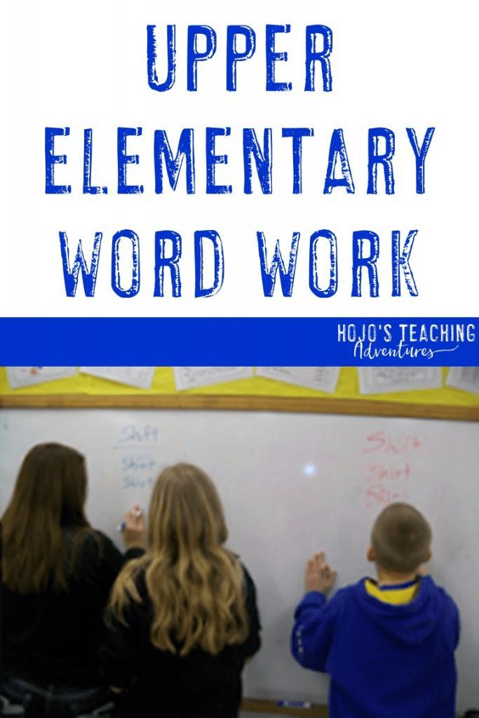 upper elementary work work