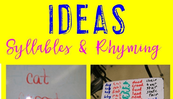Yet More Word Work for Older Kids ~ Syllables & Rhyming