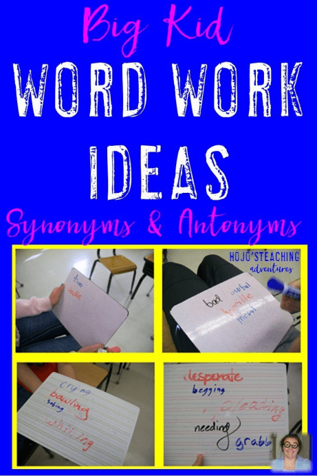 Do you need more word work for your upper elementary students? These synonym and antonym activities are a great way for your 3rd, 4th, 5th, and 6th grade students to get a good review in during your word work or center time!