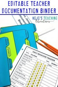 EDITABLE Teacher Documentation Ideas