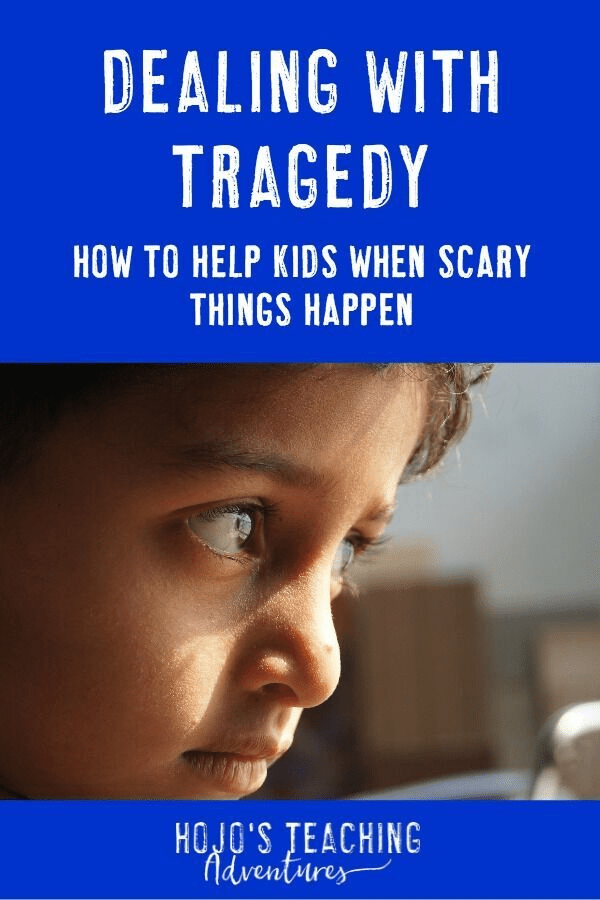 Are you wondering how to help your kids when scary things happen? Too often in today's world we are having HORRIFIC events happen around our world, country, and even in our own backyard. Click through to see a great book to help students cope with big, tough issues. This is a GREAT read for a mom or teacher. Then we can keep it on hand to share with students when the time is right (although I hope that NEVER happens). Appropriate for ALL grade levels! #HoJoTeaches