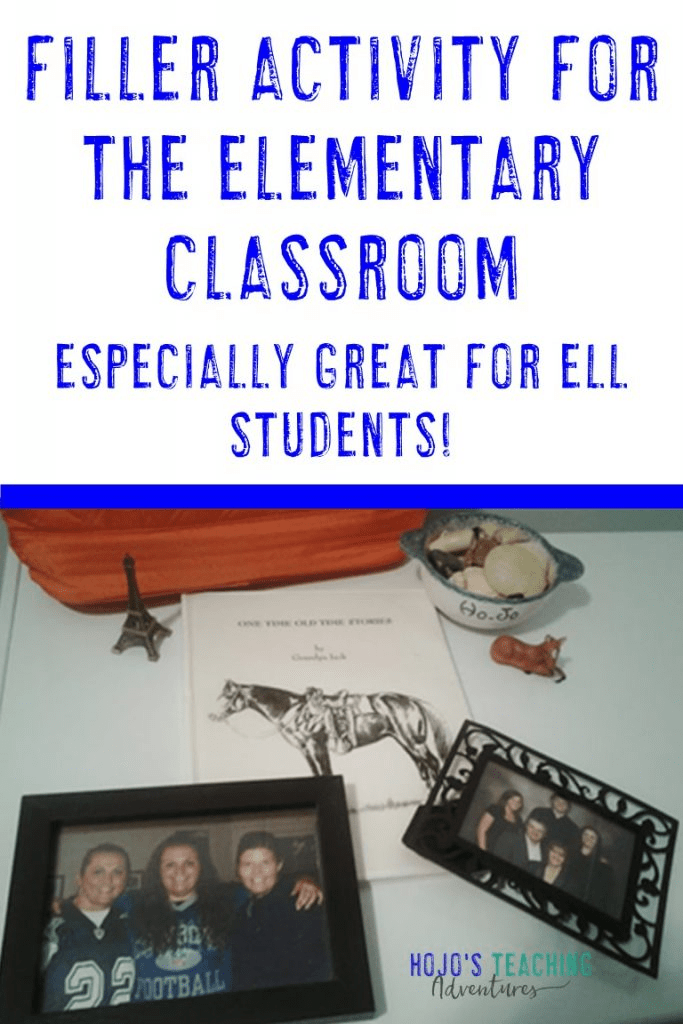 Filler Activity for the Elementary Classroom - especially good for ELL students!