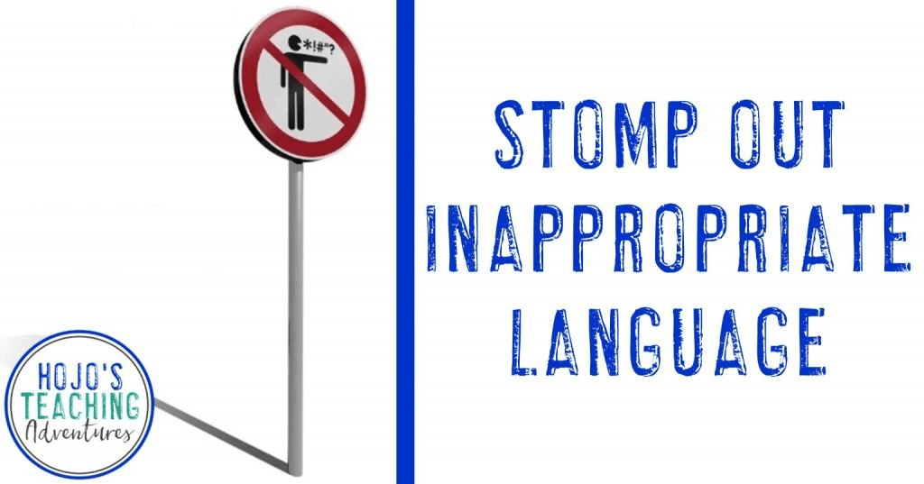 stomp out inappropriate language