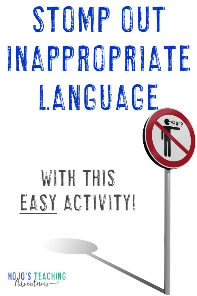 """Regardless of which elementary grade you teach, you can keep bad language at bay by using the """"stomp"""" method outlined in this blog post. This teacher has had success using this in her Kindergarten, 4th, and 6th grade classroom - so you can be sure it'll work with your 1st, 2nd, 3rd, and 5th grade students as well. It's a great classroom management strategy that will work great during the first days of school or anytime you need to get students language (or cussing) under control! #HoJoTeaches"""