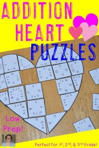 Valentine's Day Addition Heart Puzzles - These puzzles are perfect for math centers during Valentine's Day week. Each of the three puzzles will have students answer 36 different addition within 20 math problems. They're perfect for first, second, and third grade students (or Kindergarten students who are ready for a challenge). Use them for early or fast finishers, review, enrichment, GATE, critical thinking, centers, and more! Click through to pick yours up today! $ {1st, 2nd, or 3rd grade}