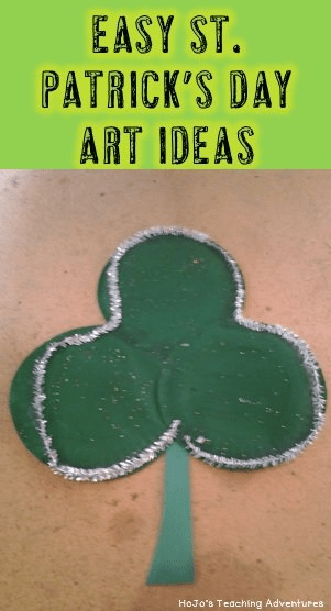 Check out this awesome, easy St. Patrick's Day art idea! You'll need some paper plates (or construction paper circles), some paint (or crayons), and some glue to put it all together You can make three or four leaf clovers. They'll look great on bulletin boards or on the classroom door! Great for any elementary grade level!