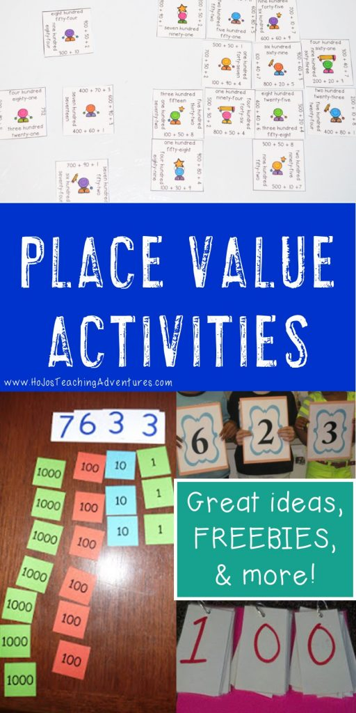 place value activities for elementary and middle school students