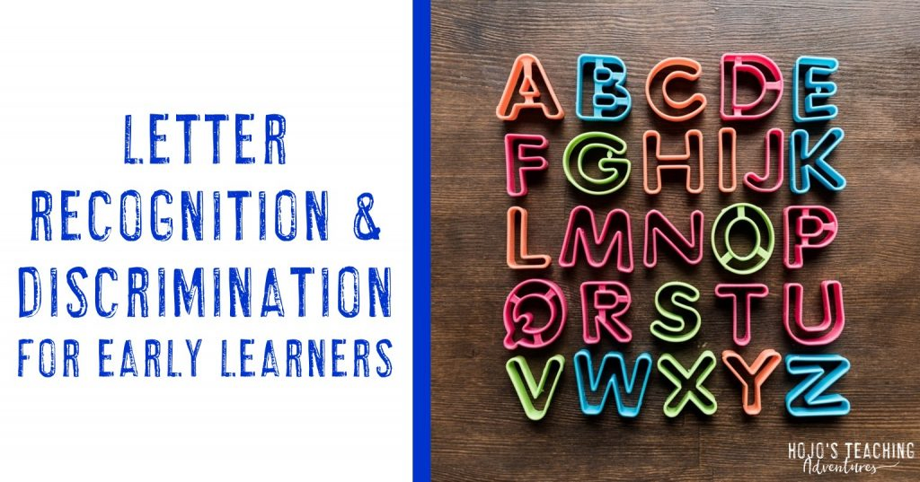 letter recognition & discrimination for early learners