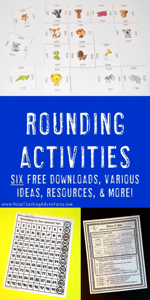 rounding activities for kids - teaching rounding - pictures of activities to be done!