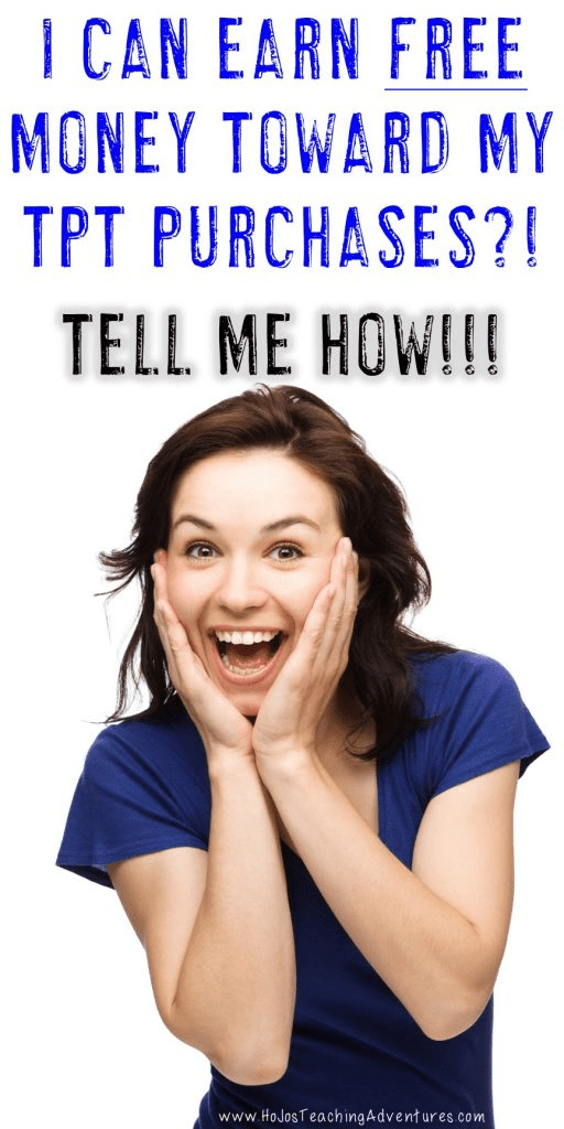 This woman is EXCITED to learn how to get free money on Teachers Pay Teachers!
