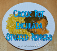 Easy teacher meals - stuffed enchilada peppers