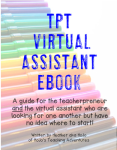 Are you a teacherpreneur who is looking for a virtual assistant? This book will help you out! Are you a virtual assistant who wants to work with a TpT seller? Then this book is also for you! Click through to see how this amazing resource can help you find OR become a virtual assistant! Plus you'll gain access to a secret Facebook group for collaboration!